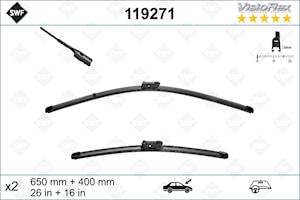 Flatbladesats 650/400 mm