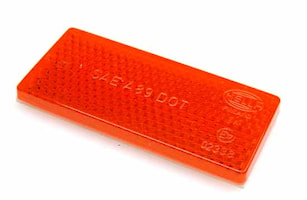 Reflex röd 70x32mm självhäft