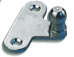 Beslag 3mm metall med kula Ø10