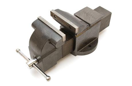Skruvstycke av gjutjärn 125 mm