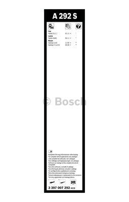 Flatbladesats A292S 600/380