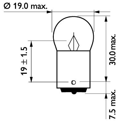 Glödlampa 24V 10W BA15s ML