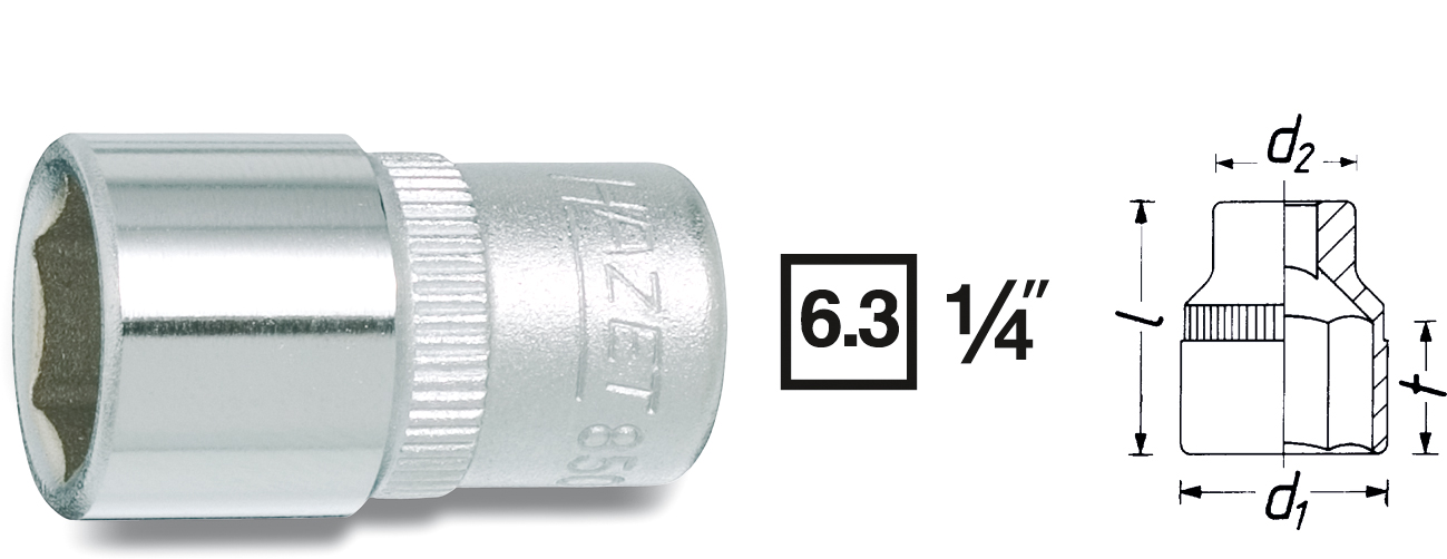 "Hylsa 1/4"" 5.5 mm"