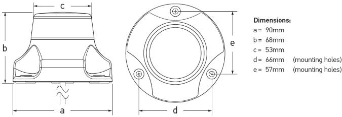 Lanterna 360° Vit 9-33 V