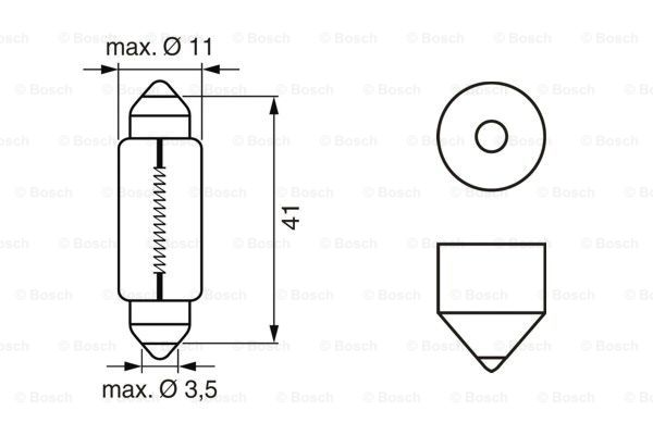 Glödlampa T11x41 12V 10WECO