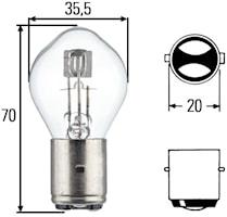 Glödlampa S2 24V 45/40W BA20d