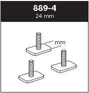 Adaptersats T-spår 30x24 mm