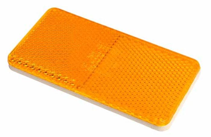 Reflex gul 105x55mm självhäft