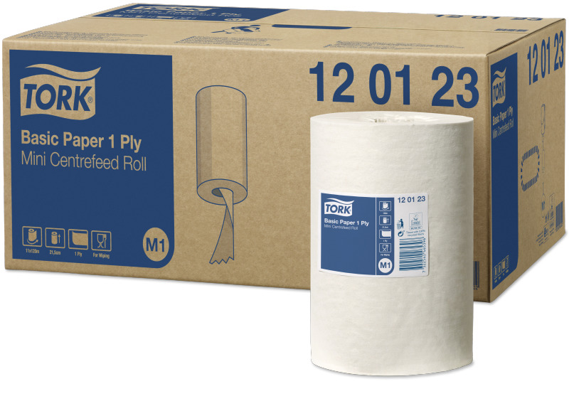 Tork Basic Papper 1-lag, C-mat