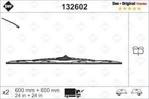 Torkarblad 600 mm Set LV