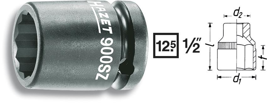 Krafthylsa 12-kant 30mm