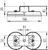Magnetfot f arbetsstrålk m U-b