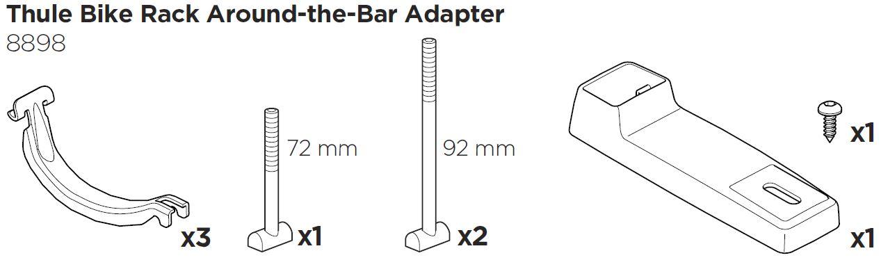 Adaptersats fyrkantrör