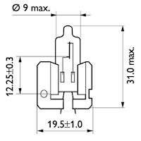 Halogenglödlampa H2 12V 55W