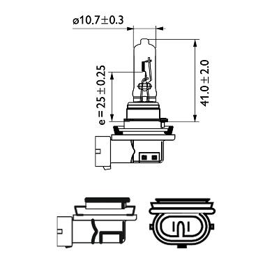 Halogenglödlampa H9 12V 65W