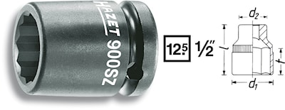Krafthylsa 12-kant 19mm
