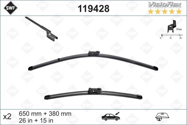 Flatbladesats 650/380