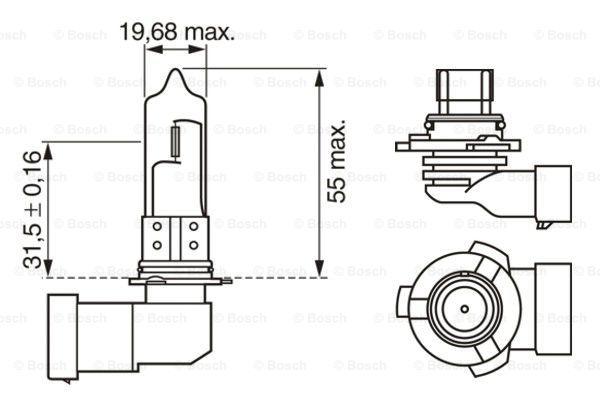 Halogen HB3 12V 60W Pure Light