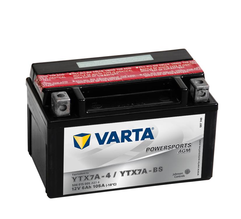 Batteri 6Ah MC YTX AGM
