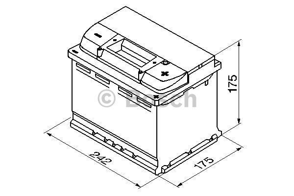 Batteri S5 004 Bosch 61Ah
