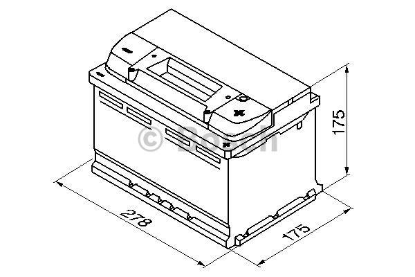 Batteri S4 72Ah 680A CCA