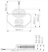 Blixtfyr Corner Module 270 gul