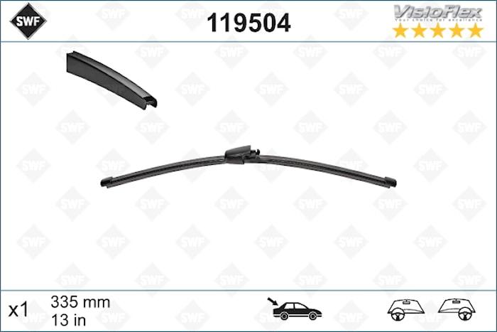 Flatblade 335mm för bakruta