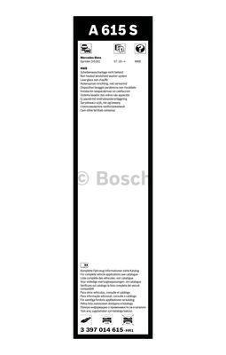 Flatbladesats A615S 650/600