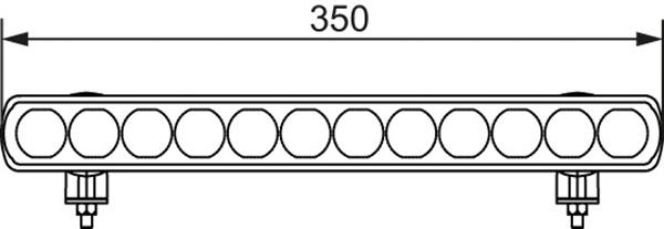 Extraljusramp LED 350