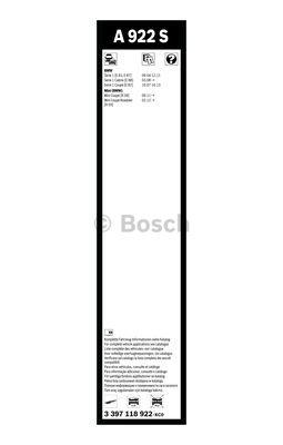 Flatbladesats A922S 500/500