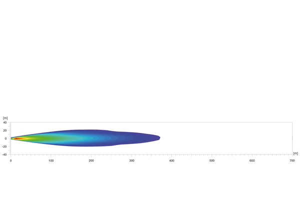 Extraljusramp LED 470 Single T