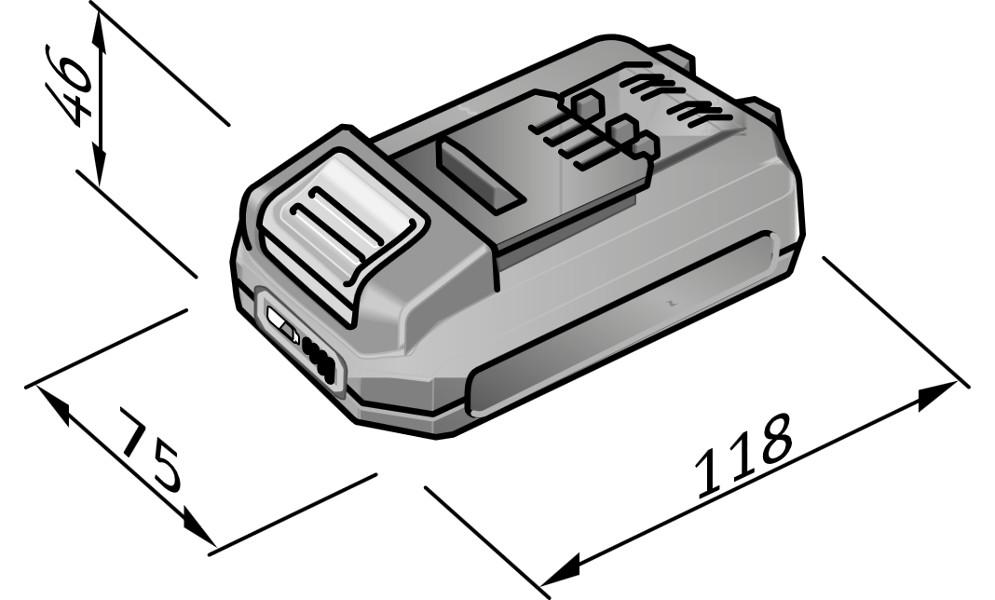 Batteri 18,0 / 2,5 Ah