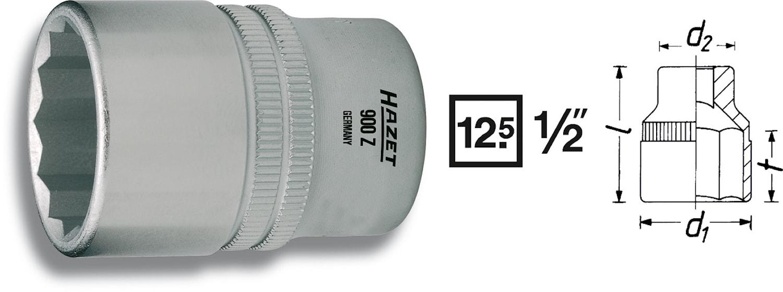 """Hylsa 12 kant 27 mm 1/2"""""""