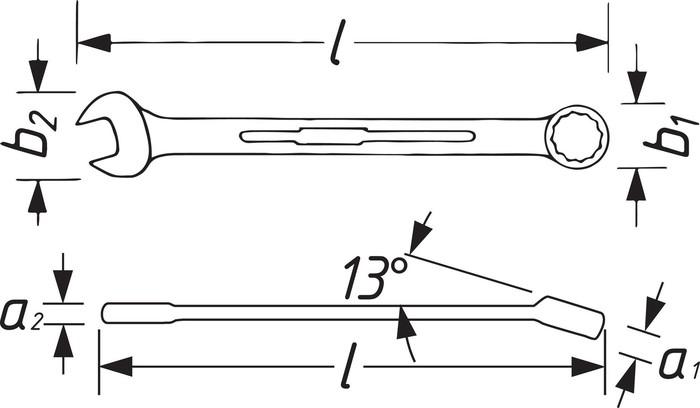 Blocknyckel. spärr 19mm