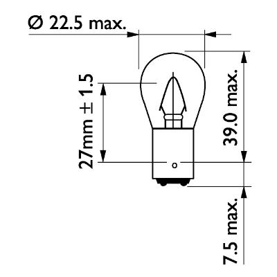 Glödlampa 24V 15W BA15d