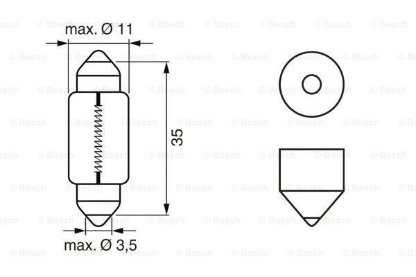 Glödlampa T11X35 C5W PureLight
