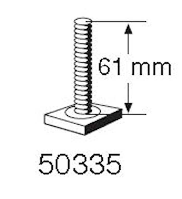 T-spårsskruv M6x61