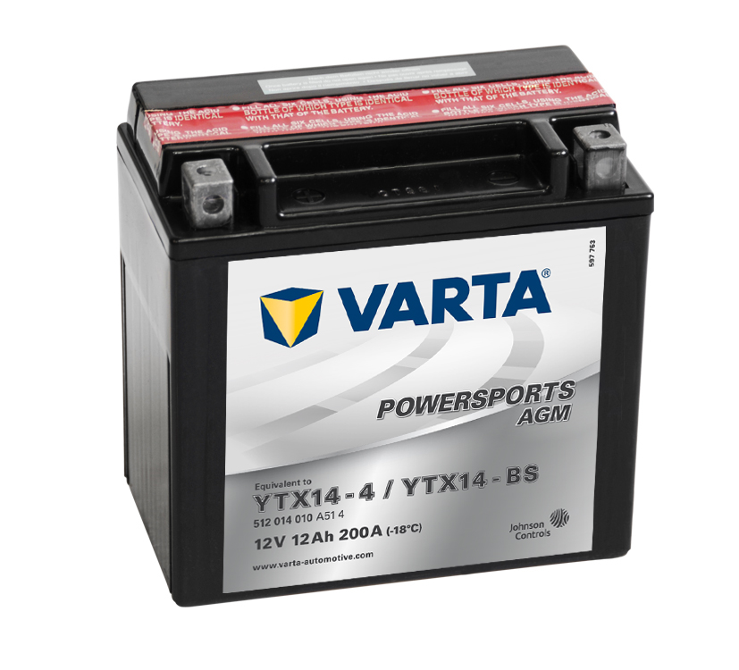 Batteri 12Ah MC YTX AGM