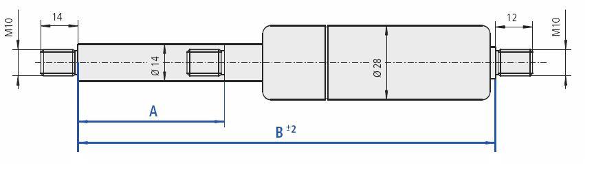 Gasfj B=870 A=400 1000N M10