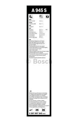 Flatbladesats A945S 650/400