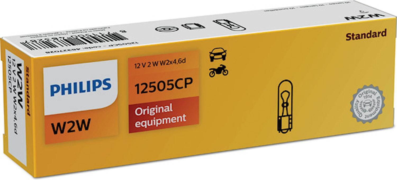 Glödlampa 12V 2W W2x4,6d