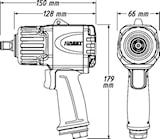 "Mutterdragare 1/2"" Twin Turbo"