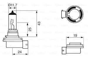 Halogen H11 12V 55W PGJ19-2ECO