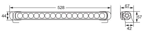 Extraljusramp LED 470 Spot