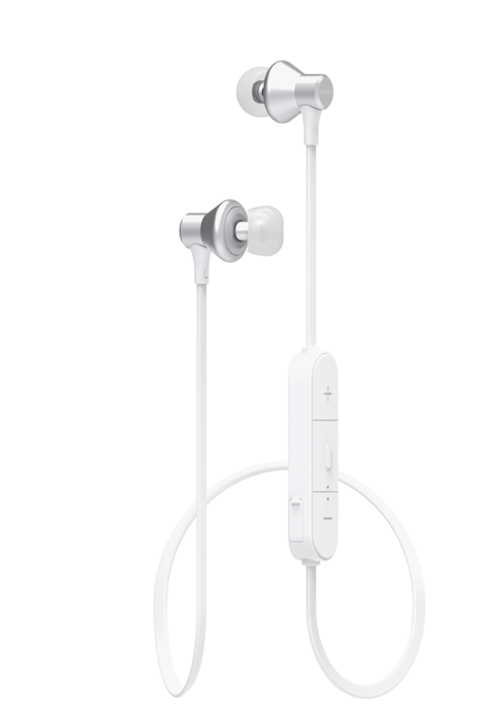 Bluetooth in-ear hörlur vit