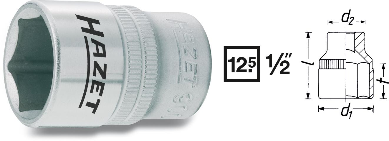 "Hylsa 1/2"" 12mm"