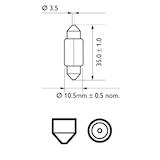 Glödlampa LL 12V 10W SV8,5