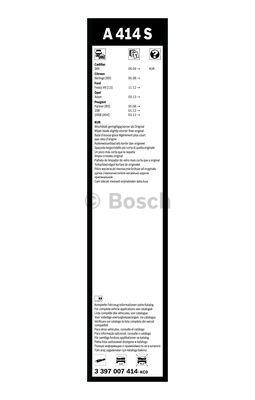 Flatbladesats A414S 650/400