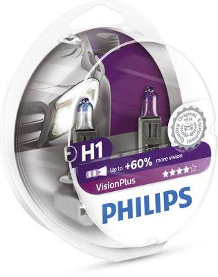 Halogenglödl H1 VisionPlus 12V