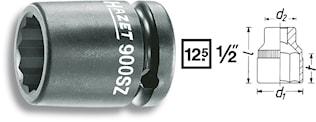 Krafthylsa 12 kant 19mm